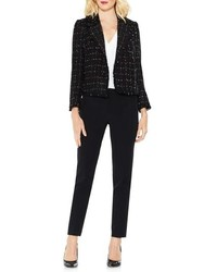 Vince Camuto Spring Windowpane Tweed Open Front Jacket