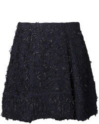 Black Tweed Mini Skirt