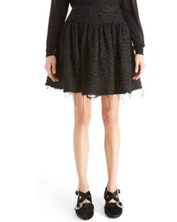 Simone Rocha Gathered Tweed Miniskirt