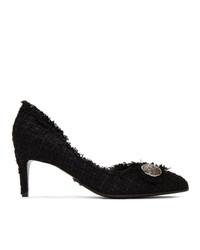 Balmain Black Tweed Julie 65 Heels