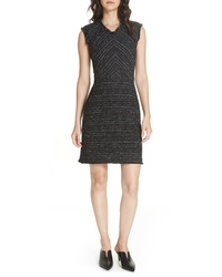 Black Tweed Sheath Dress
