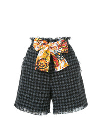 MSGM Frayed Tweed Shorts