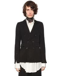Ann Demeulemeester Virgin Wool Blend Twill Jacket
