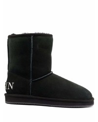 Philipp Plein Wool Lined Suede Boots