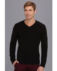 Calvin Klein Jeans 7gg Mixed Ribbed V Neck