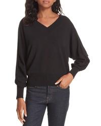 Brochu Walker Ashbey V Neck Cotton Sweater