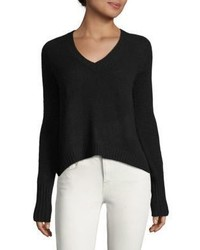 Cashmere Crop V Neck Sweater