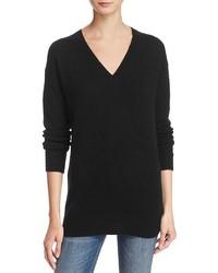 Aqua Cashmere V Neck Tunic Sweater 100%