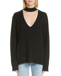 R13 Choker V Neck Cashmere Sweater