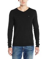 Tommy Hilfiger Denim Original V Neck Long Sleeve Sweater