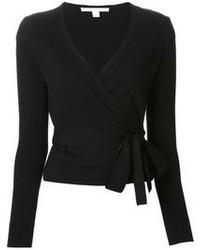 Diane von Furstenberg Wrap Style V Neck Cardigan