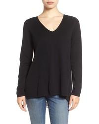 NYDJ Layered Look Cutaway Back Sweater