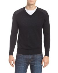Canada Goose Mcleod V Neck Regular Fit Merino Wool Sweater