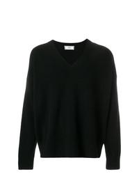 AMI Alexandre Mattiussi Oversized V Neck Sweater