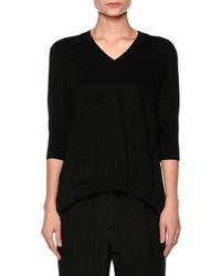 Marni Plisse Back Half Sleeve Sweater Black