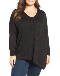 NYDJ Plus Size Shimmer Asymmetrical Sweater