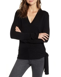 Chelsea28 Side Tie V Neck Sweater
