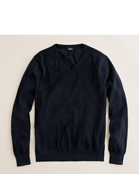 J.Crew Slim Cotton Cashmere V Neck Sweater