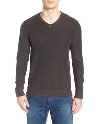 Lucky Brand Slub V Neck Sweater