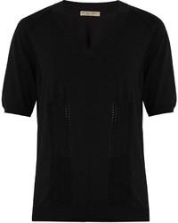 Bottega Veneta V Neck Cotton Blend Sweater