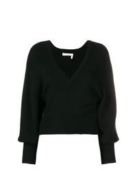 Chloé V Neck Cropped Sweater