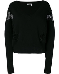 Chloé V Neck Lace Sweater