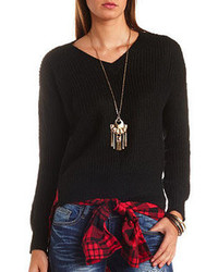 Charlotte Russe V Neck Pullover Sweater