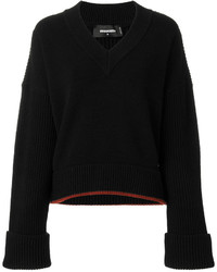 Dsquared2 V Neck Ribbed Jumper