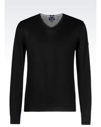 Armani Jeans V Neck Sweater In Cotton