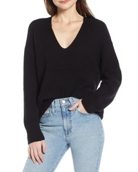 Something Navy V Neck Sweater