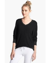 Wildfox V Neck Pullover Jet Black Medium