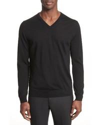 Lanvin Wool V Neck Sweater