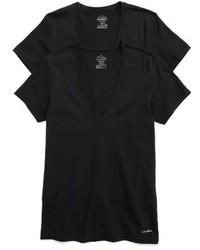 Calvin Klein 2 Pack V Neck T Shirt