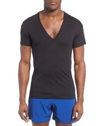 2ist slim fit pima cotton deep v neck t shirt medium 3750939