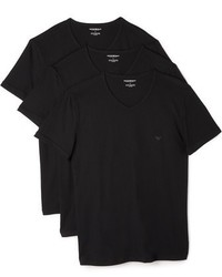 3 pack genuine cotton v neck tees medium 956722