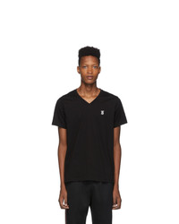 Burberry Black Marlet V Neck T Shirt