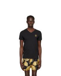 Versace Underwear Black Medusa Logo T Shirt