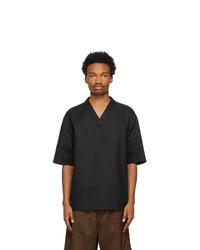 Jil Sander Black Outer Short Sleeve Shirt