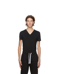 Ermenegildo Zegna Black V Neck Seamless T Shirt