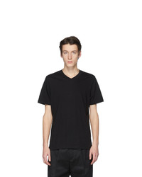 Jil Sander Black V Neck T Shirt