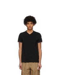 Moncler Black V Neck T Shirt
