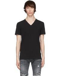Balmain Black V Neck T Shirt