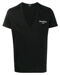 Balmain Deep V Neck T Shirt