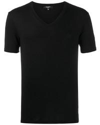 Balmain Logo Embroidered V Neck T Shirt