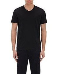 Vince Pima Cotton V Neck T Shirt