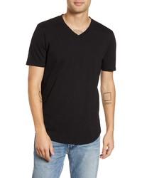 Goodlife Scallop Slub V Neck T Shirt