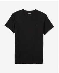 Express Small Lion Jersey V Neck Tee