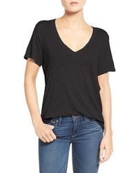 Splendid Short Sleeve V Neck Tee