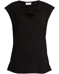 Frame V Neck Cotton Jersey T Shirt