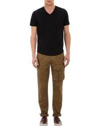 James Perse V Neck T Shirt Black